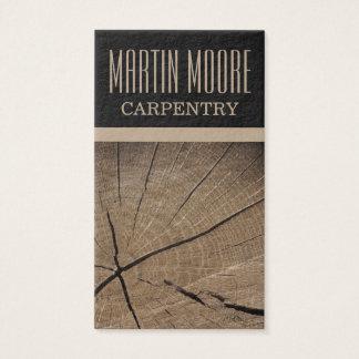 Cubierta profesional del trabajo de madera de la tarjeta de negocios