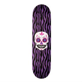 Cubierta púrpura de encargo del cráneo del patin