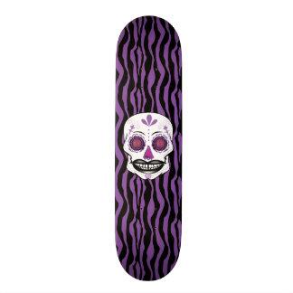 Cubierta púrpura del cráneo del caramelo del monopatines