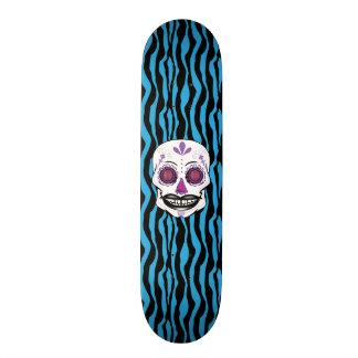 Cubierta púrpura del cráneo del caramelo del patines personalizados