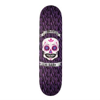 Cubierta púrpura del cráneo del caramelo del rosa monopatines