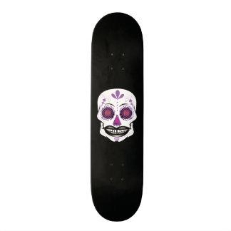 Cubierta púrpura negra de encargo del cráneo del monopatin personalizado
