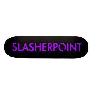 Cubierta púrpura y negra de la marca de monopatines personalizados