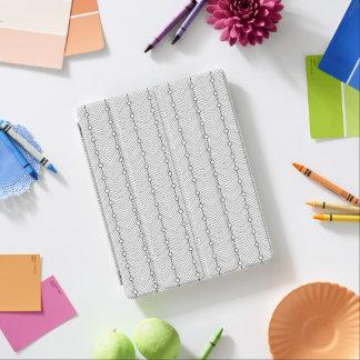 Cubierta retra abstracta negra y blanca del iPad