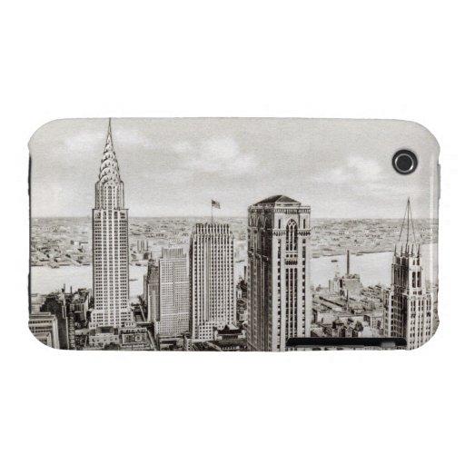 Cubierta retra del iphone del horizonte clásico de iPhone 3 fundas