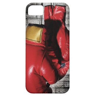 Cubierta roja de la caja de los guantes de boxeo iPhone 5 cárcasas
