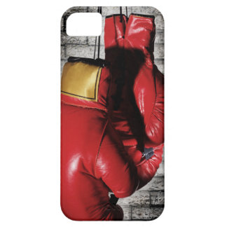 Cubierta roja de la caja de los guantes de boxeo iPhone 5 fundas