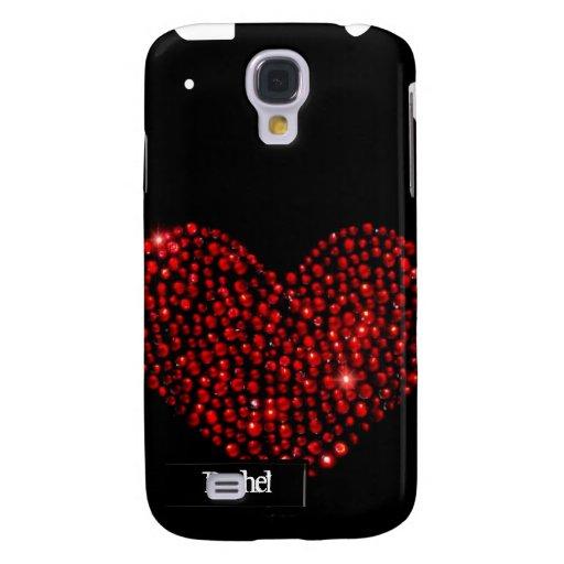 Cubierta roja del diamante artificial iPhone3G del