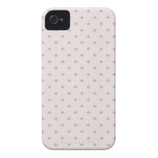 Cubierta rosada Flur-de-lis iPhone4 iPhone 4 Protector