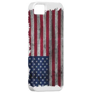 Cubierta rugosa del teléfono de la bandera de los iPhone 5 funda