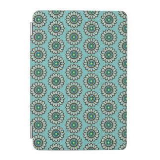 Cubierta verde azulada estilizada retra del iPad