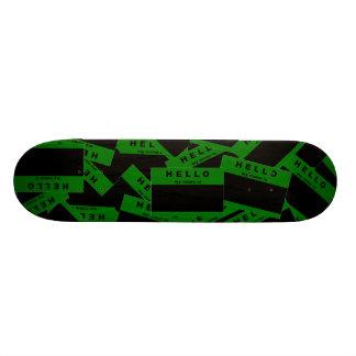 Cubierta (verde) del monopatín del ébano de Merhab