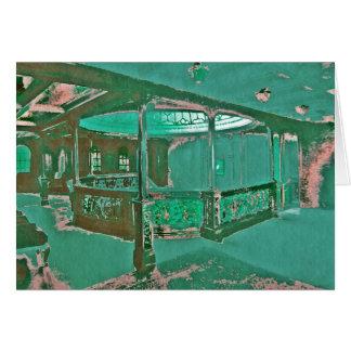 Cubierta y escaleras de lujo en titánico tarjeta de felicitación