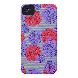 Cubiertas florales del teléfono de los Peonies púr iPhone 4 Case-Mate Coberturas
