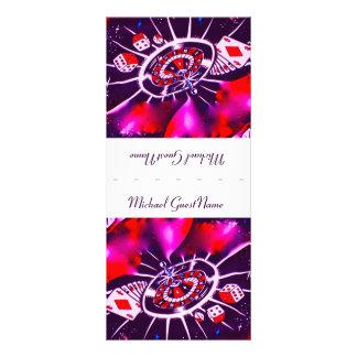Cubierto púrpura del nombre de la pasión tarjeta publicitaria personalizada