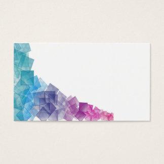 Cubismo del arco iris tarjeta de negocios