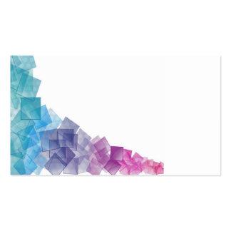 Cubismo del arco iris tarjetas de visita