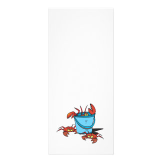 cubo de cangrejos folleto publicitario 10 x 22,8 cm