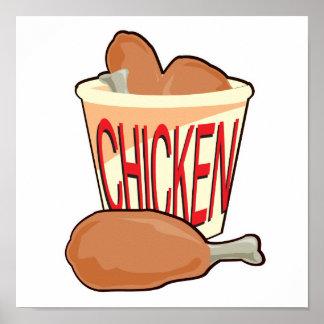 cubo de pollo frito posters
