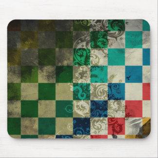 cubos coloridos con arte del vector del remolino alfombrilla de raton