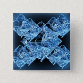 Cubos de hielo azules chapa cuadrada