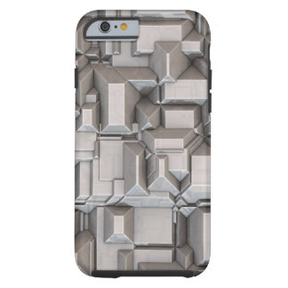 Cubos de metales pesados macizos funda de iPhone 6 tough