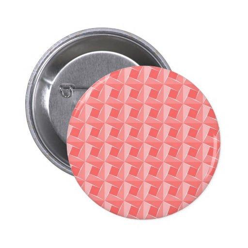 Cubos rosados. Modelo artístico geométrico Pin