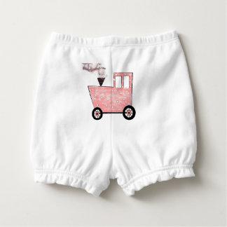 Cubrepañal Tren del Caboose de los rosas bebés