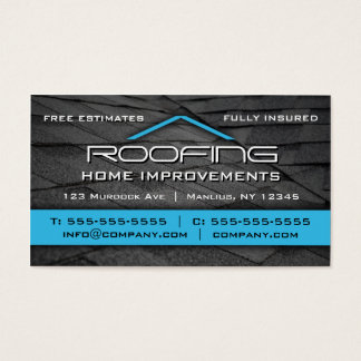 Cubrir el azul profesional de la tarjeta de visita