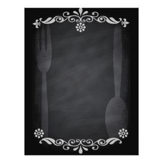 Cuchara de la bifurcación de la comida del menú folleto 21,6 x 28 cm