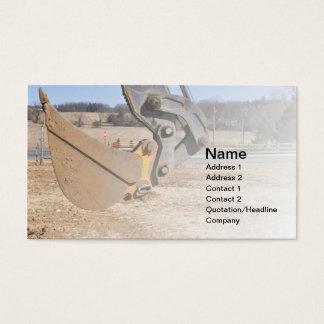 cucharada de la retroexcavadora tarjeta de negocios