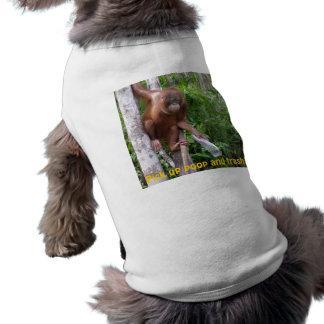 Cucharada y reciclaje del impulso camiseta sin mangas para perro