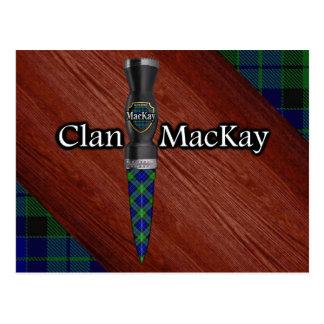 Cuchilla de Sgian Dubh del tartán de MacKay del Postal