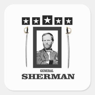cuchilla doble Sherman cw Pegatina Cuadrada