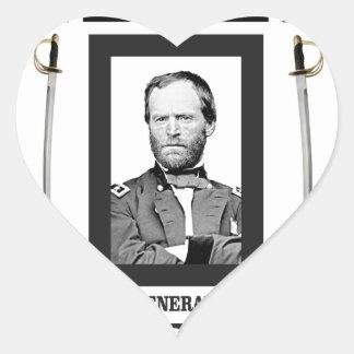 cuchilla doble Sherman cw Pegatina En Forma De Corazón