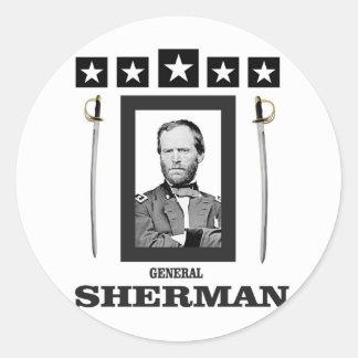 cuchilla doble Sherman cw Pegatina Redonda