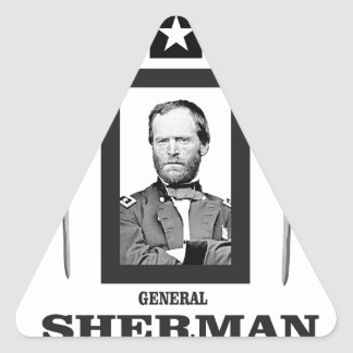 cuchilla doble Sherman cw Pegatina Triangular