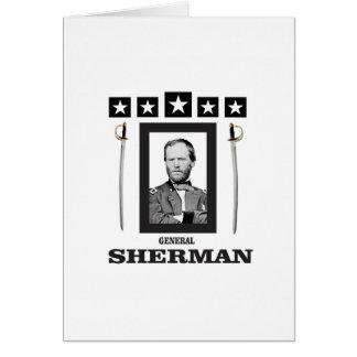 cuchilla doble Sherman cw Tarjeta De Felicitación
