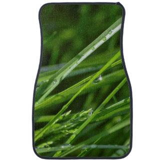 Cuchillas verdes de la escena de la naturaleza de  alfombrilla de coche