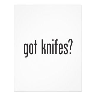 cuchillos conseguidos flyer personalizado