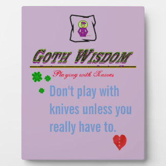 Cuchillos de la sabiduría del gótico placa expositora