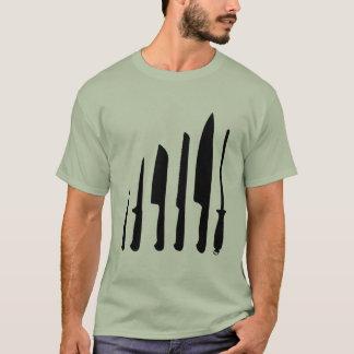 Cuchillos de los cocineros camiseta