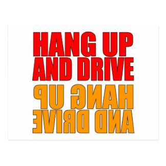Cuelgue para arriba y conduzca el lema del coche postal