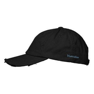 cuello azul gorras bordadas