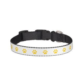 Cuello de perro amarillo de la impresión de la collar para mascotas