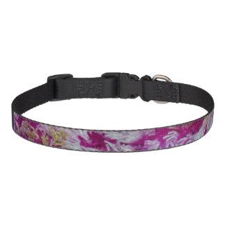 Cuello de perro amarillo y blanco púrpura del collar para mascotas