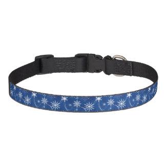 Cuello de perro azul de la chispa del copo de collar para mascotas
