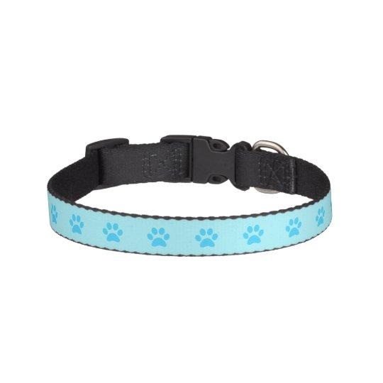 Cuello de perro azul de la impresión de la pata collar para mascotas