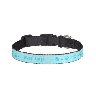 Cuello de perro azul del lunar de la impresión de collar para mascotas