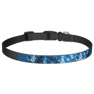 Cuello de perro azul del ornamento del navidad collar para mascotas